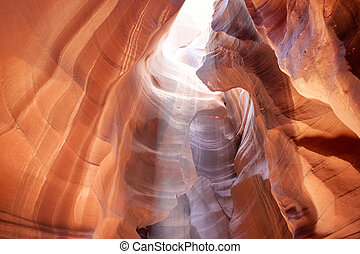 The Upper Antelope Canyon in Page, Arizona, United States. India
