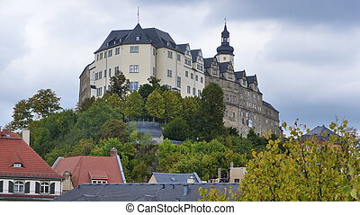 The Upper Castle - views of the Upper Castle in Greiz in...