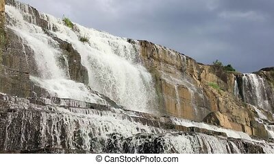 The upper of Pongour Waterfall, one of the most famous and...
