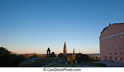 The Uppsala sunrise - An early morning view in september ...