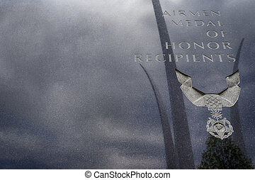 US Air Force Memorial - The US Air Force Memorial with three...