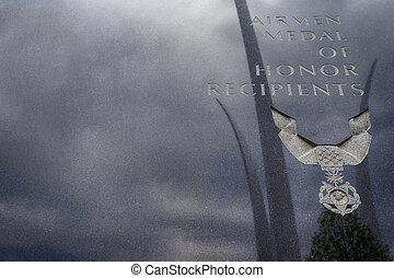 US Air Force Memorial - The US Air Force Memorial with three...