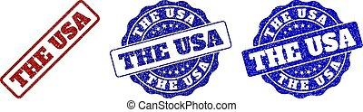 THE USA Grunge Stamp Seals