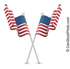 The USA Waving Flag