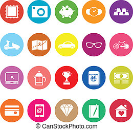 The useful collection flat icons on white background