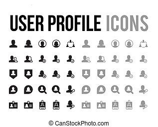 user profile vector icon for app and mobile website responsive