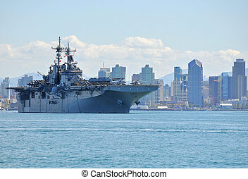 The USS Boxer (LHD 4) departing on Deployment. *Editorial ...