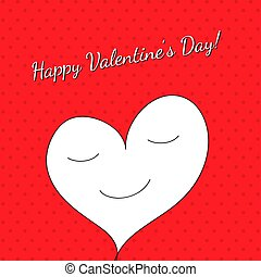 The Valentine Day frame on a red patern