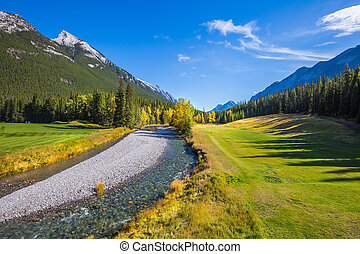 The valley in Banff National Park