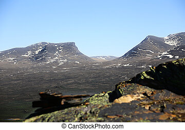 The valley Lapporten, the gate to Lapland