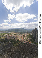 Kalambaka - the valley of Kalambaka at Meteora in Greece