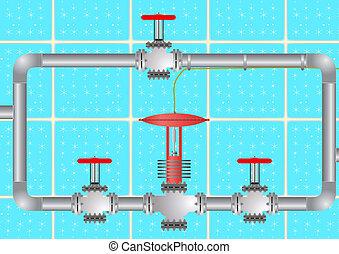 The valve assembly.
