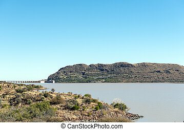 The Vanderkloof Dam in the Orange River