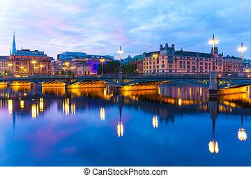 The Vasa Bridge in Stockholm, Sweden