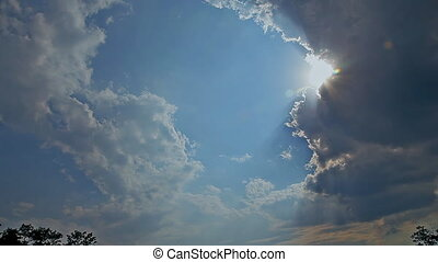 The vast blue sky and clouds sky - Nice white cloud on the...