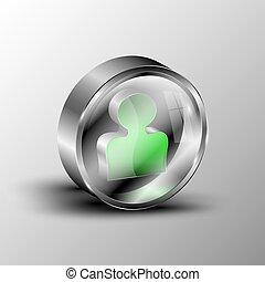 The vector 3d button