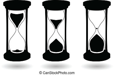 the vector black and white hourglass