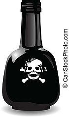the vector black bottle of the poison