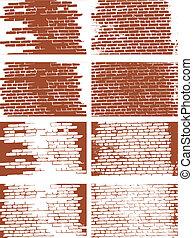 the vector brick wall set