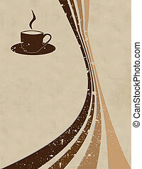 the vector coffee style background