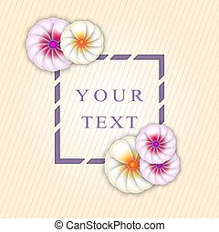 The vector frame with flowers
