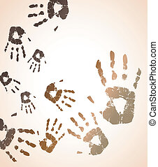 the vector handprint color background eps 10
