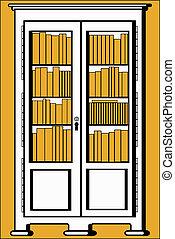 bookcase - The vector illustration - bookcase