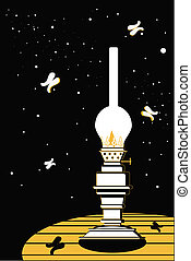 kerosene lamp - The vector illustration - kerosene lamp