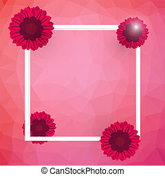 the vector illustration of isolated blooming red