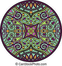 mandala - The vector illustration of oriental mandala