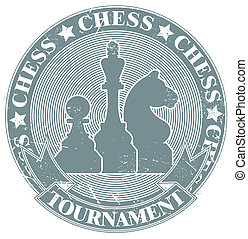 Chess tournament stamp