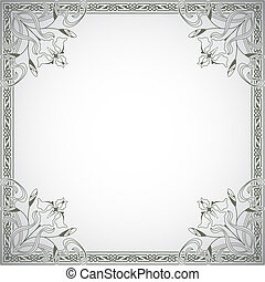 The vector image Decorative frame in the style of vintage
