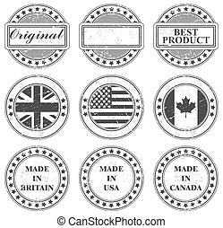 Grunge stamps design