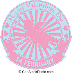 Happy valentine stamp