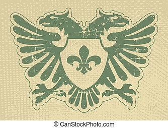 Heraldic stamp