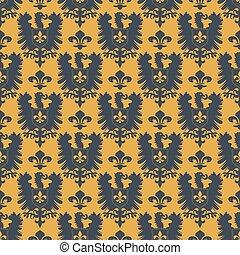 Heraldic vector background seamless