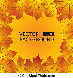 Autumn background with maple leaves - The vector image of...