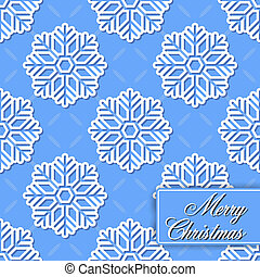 Background seamless from snowflakes - The vector image of...