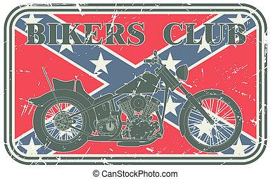 Bikers club stamp