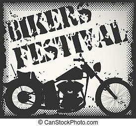 Bikers festival stamp