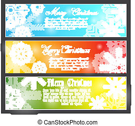 The vector image of color Merry Chr