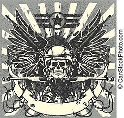 Military emblem - The vector image of color Military emblem