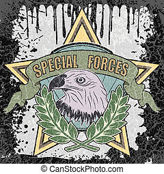 The vector image of color Special forces symbol