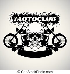Sticker on the shirt motoclub - The vector image of color...