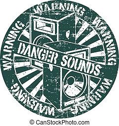 Danger sounds stamp