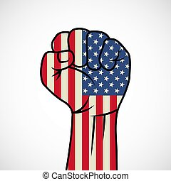 Fist with American flag