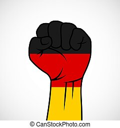 Fist with German flag