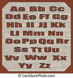 Font on a brick wall