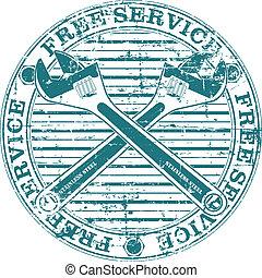 Free service stamp