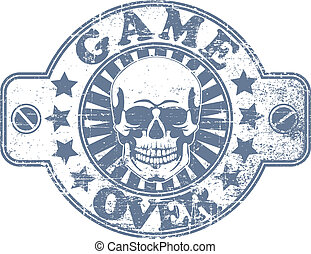 Game over stamp - The vector image of Game over stamp
